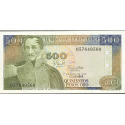 Colombia 500 Pesos. 1979. 01-04. SC. PIK. 420 b
