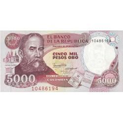 Colombia 5000 Pesos. 1987. 05-08. SC. PIK. 435