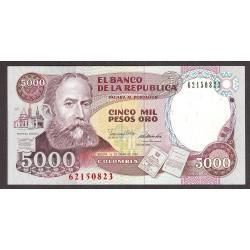 Colombia 5000 Pesos. 1990. SC. PIK. 436