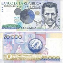Colombia 20000 Pesos. 2002. 20-11. SC. PIK. 454
