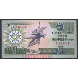 Corea del Norte 5 Won. 1988. SC. PIK. 28