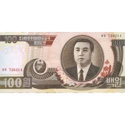 Corea del Norte 100 Won. 1992. SC. PIK. 43