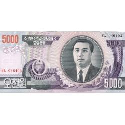 Corea del Norte 5000 Won. 2002. SC. (Wmk 1). PIK. 46
