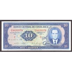 Costa Rica 10 Colon. 1970. SC. PIK. 230 b