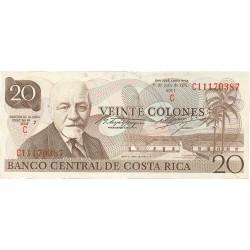 Costa Rica 20 Colon. 1978. 19-06. SC. PIK. 238 c