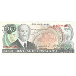 Costa Rica 100 Colon. 1993. 28-09. SC. PIK. 261 a