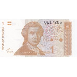 Croacia 1 Dinara. 1991. /08/10. SC. PIK. 16 a