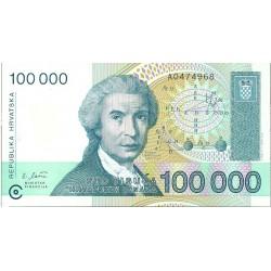 Croacia 100000 Dinara. 1993. 30-05. SC. PIK. 27 a