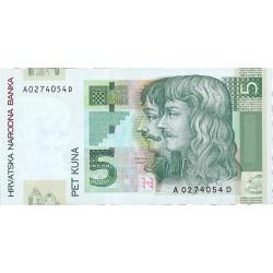 Croacia 5 Kuna. 2001. SC. PIK. 37 a