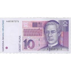 Croacia 10 Kuna. 1993. 31-10. SC. PIK. 29 a