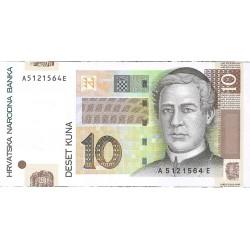 Croacia 10 Kuna. 2001. SC. PIK. 38 a