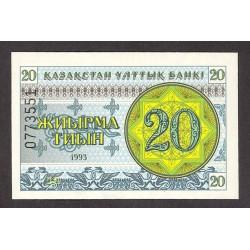 Kazakhstan 20 Tyin. 1993. SC. PIK. 5
