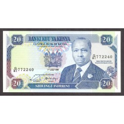Kenia 20 Shilingi. 1991. SC. PIK. 25 d