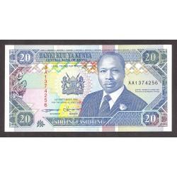 Kenia 20 Shilingi. 1993. SC. PIK. 31 a