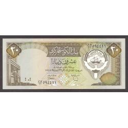 Kuwaid 20 Dinar. 1968. SC. PIK. 16 b