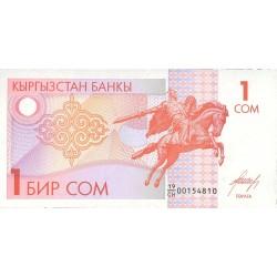 Kyrgyzstan 1 Som. 1993. SC. PIK. 4