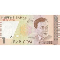Kyrgyzstan 1 Som. 1999. SC. PIK. 15