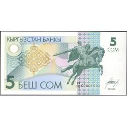 Kyrgyzstan 5 Som. 1993. SC. PIK. 5