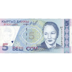 Kyrgyzstan 5 Som. 1997. SC. PIK. 13