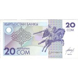 Kyrgyzstan 20 Som. 1993. SC. PIK. 6