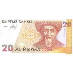 Kyrgyzstan 20 Som. 1994. SC. PIK. 10