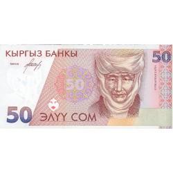 Kyrgyzstan 50 Som. 1994. SC. PIK. 11