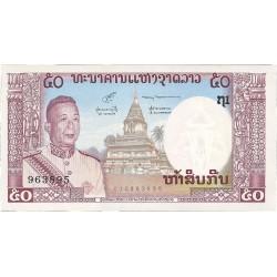 Laos 50 Kip. 1963. (s/f). SC. PIK. 12