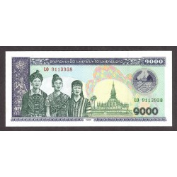 Laos 1000 Kip. 1998. SC. PIK. 32 e