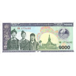 Laos 1000 Kip. 1998. SC. PIK. 35