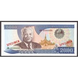 Laos 2000 Kip. 1997. SC. PIK. 33 s