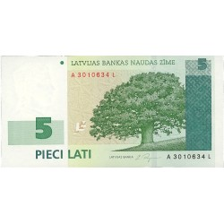 Latvia 5 Lati. 2001. SC. PIK. 49