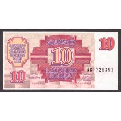 Latvia 10 Rublos. 1992. SC. PIK. 38