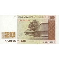 Latvia 20 Latu. 1992. (1993). SC. PIK. 45