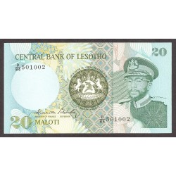 Lesotho 20 Maloti. 1984. SC. PIK. 7 b
