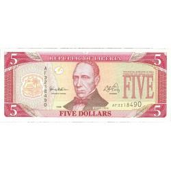 Liberia 5 Dolar. 1999. SC. PIK. 21