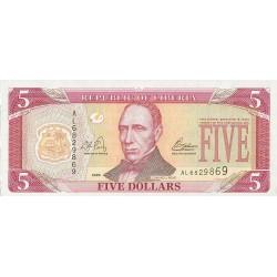 Liberia 5 Dolar. 2003. SC. PIK. 26