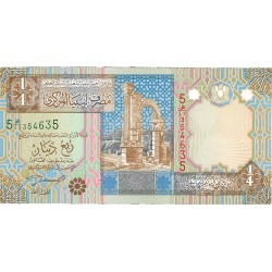 Libia ¼ Dinar. 2004. (s/f). SC. PIK. Nuevo