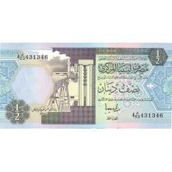 Libia ½ Dinar. 1991. (ca.s/f). SC. PIK. 58 b