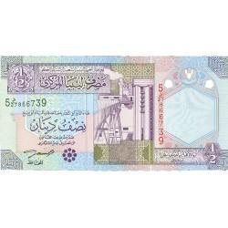 Libia ½ Dinar. 2004. (s/f). SC. PIK. Nuevo
