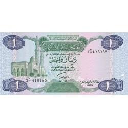 Libia 1 Dinar. 1984. (s/f). SC. PIK. 49