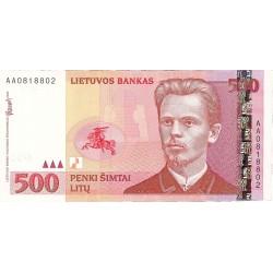 Lituania 500 Litu. 2000. SC. PIK. 64