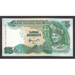 Malasia 5 Ringgit. 1986. SC. PIK. 35