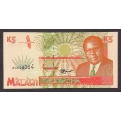 Malawi 5 Kwacha. 1995. SC. PIK. 30