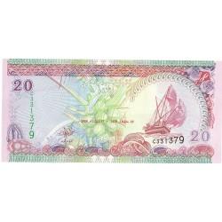 Maldivas.-Islas 20 Rufiyaa. 2000. (Ah.1421). SC. PIK. 20