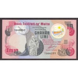 Malta 5 Liri. 1967. SC. RARO/A. PIK. 36 a10