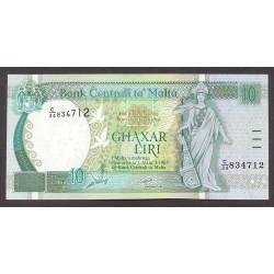 Malta 10 Liri. 1967. SC. ESCASO/A. PIK. 47 a