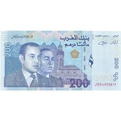 Marruecos 200 Dirham. 2002. (Ah.1423). SC. PIK. Nuevo