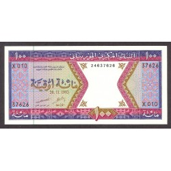 Mauritania 100 Ouguiya. 1993. SC. PIK. 4 f