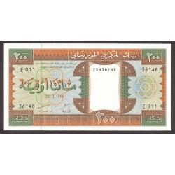 Mauritania 200 Ouguiya. 1996. SC. PIK. 5 g