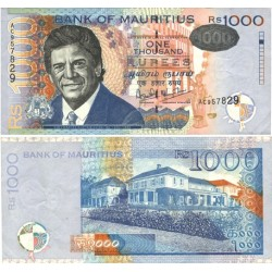 Mauritus.-Isla 1000 Rupia. 1999. EBC+/SC-. (Serie AC). MUY ESCASO/A. Nuevo con lev.marca central. PIK. 54